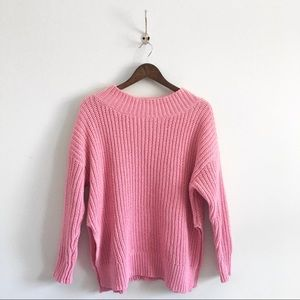Knit Crew Neck Long Sweater